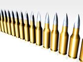 Bullets in line — Stock Photo
