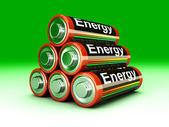 Batteri pyramid — Stockfoto