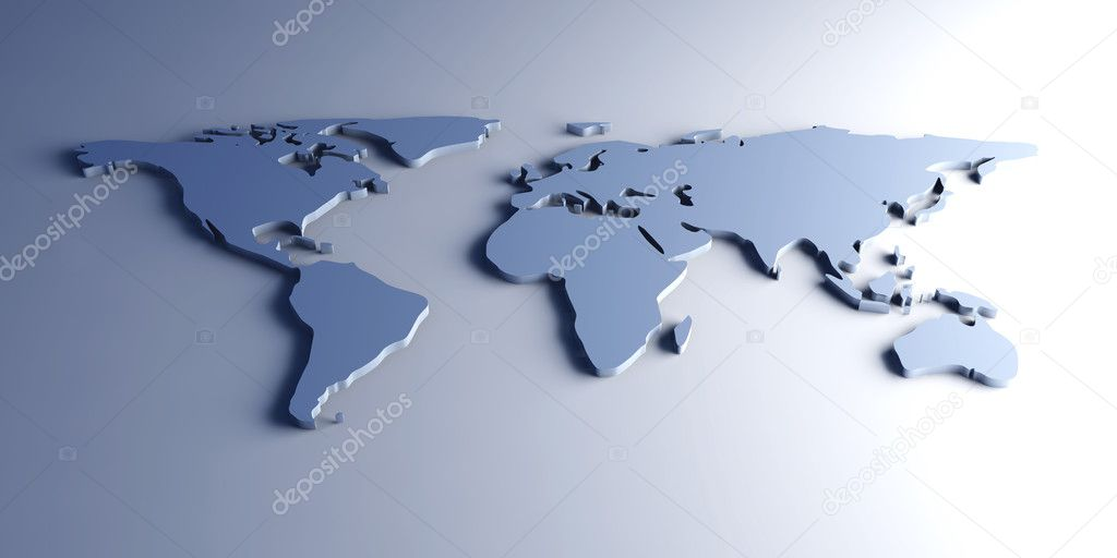 3D Illustration. An abstract Worldmap. — Stock Photo #5900475