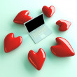 Stock Photo: Laptop in Love