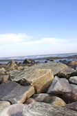 Gravel coast in Colonia del Sacramento — Stock Photo