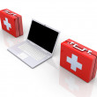 Laptop First aid — Stock Photo