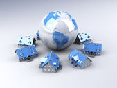 Global Real Estate — Stock Photo