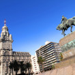Plaza Independencia in Montevideo — Stock Photo