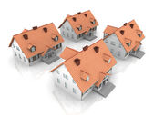 Four Houses — Stock Photo