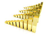 Gold charts — Stock Photo