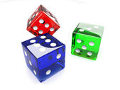 Colored Dices — Stock Photo
