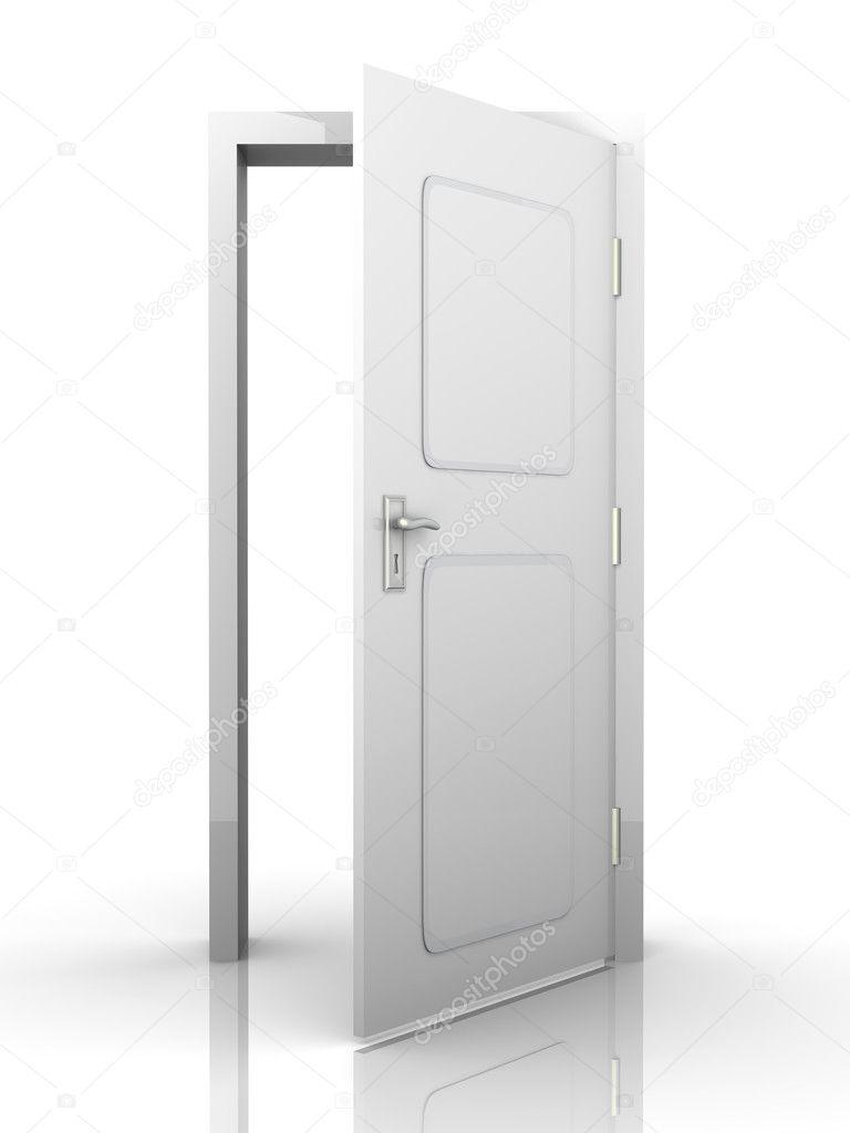 Exellent Open White Door L With Design