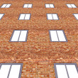 Brick Building - Stock Photo