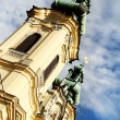 Church towers in Linz — Stock Photo