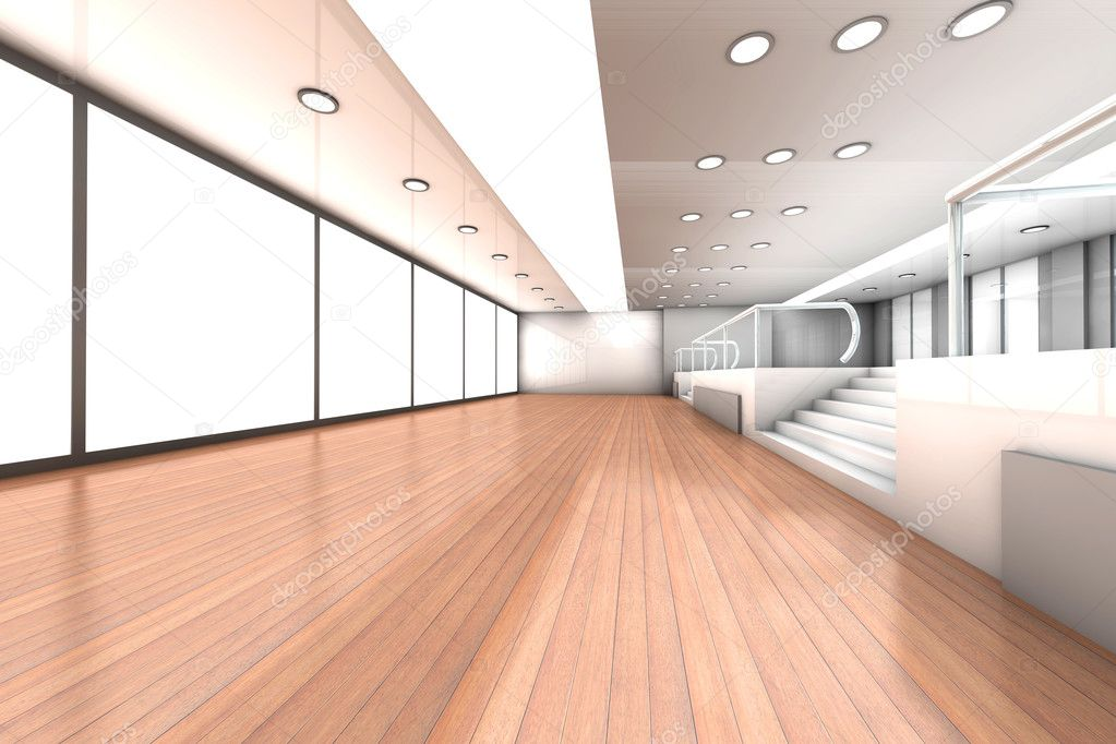 A empty office. Architectural visualisation. 3D rendered Illustration.  Stock Photo #6716482