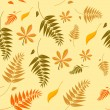 Seamless autumn leaves background — Stock Vector