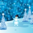 Abstract winter vector background scene — Stock Vector