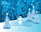 Abstract winter vector background scene — Stock Vector