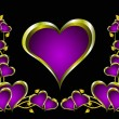 A purple hearts Valentines Day Background - Grafika wektorowa