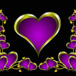 A purple hearts Valentines Day Background - Stock vektor