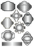 Set of Silver labels — Stock Vector