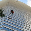 Cliffhanger Window Washers — Stock Photo