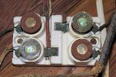 Old fashion breaker box — Stock Photo