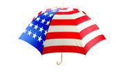 Ombrello bandiera americana — Foto Stock