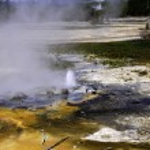 Minute Geyser, Yellowstone National Park — Stock Photo