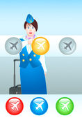 Choose the right plane — Stock Vector