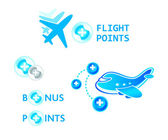 Flight points — Stock Vector