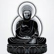 Royalty-Free Stock Vector Image: Buddha