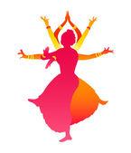 Bailarines indios — Vector de stock