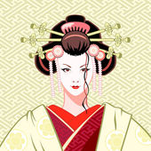 Geisha modern — Stock Vector