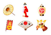 Japan symbols — Stock Vector