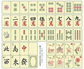 Mahjong tiles — Stock Vector