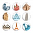 Travel destination badges | Set 1 - Stock Vector