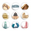 Stock Vector: Travel destination badges | Set 2