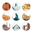 Travel destination badges | Set 3 — Stockvector #6502582