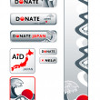 Japan donation banners — Stock Vector