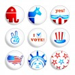 Stock Vector: Election badges