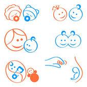 Babies logo elements — Stock Vector