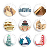 Travel destination badges | Set 2 — Stock Vector