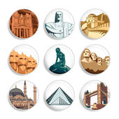Travel destination badges | Set 3 — Stock Vector