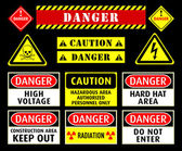 Danger warning symbols — Stockvector