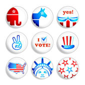 Election badges — Stock Vector
