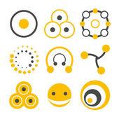 Circle logo elements — Stock Vector