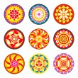 Indian floral patterns | Set 1 - Stock Vector