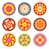 Indian floral patterns | Set 1 — Stock Vector