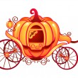 Stock Vector: Pumpkin carriage