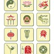 Chinese culture icons | BAMBOO series — Stock Vector