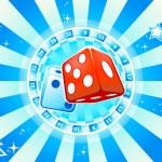 Dices casino background — Stock Vector