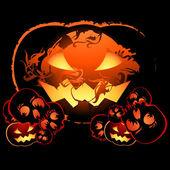 Spalanie halloween — Wektor stockowy