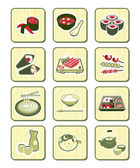 Japanese sushi-bar icons | BAMBOO series — Stock Vector